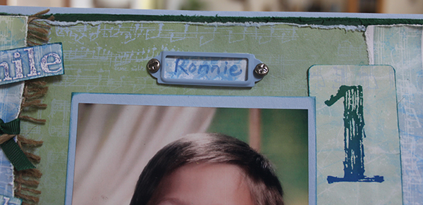 Ronnie name plate